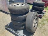Five 225/75R16 Tires W/ Rims
