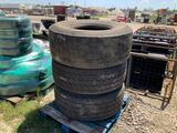 Three 445/65R22.5 Tires