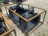 Unused 72in 2 Cylinder Skid Steer Grapple Bucket