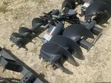 Unused Skid Steer Hydraulic Auger Attachment with 2 Bits