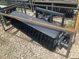 Unused 72in Skid Steer Hydraulic Broom