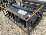 Unused 60in Skid Steer Vibratory Smooth Drum Roller