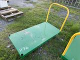 Flatbed Wheeled Shop Push Cart with Handle