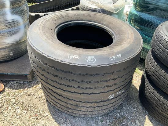 Two Goodyear 425/65R22.5 Tires