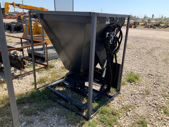 Unused Wolverine Hydraulic Skid Steer Material Spreader