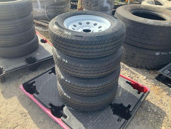 Four Unused 205/75R15 Tires W/ Rims