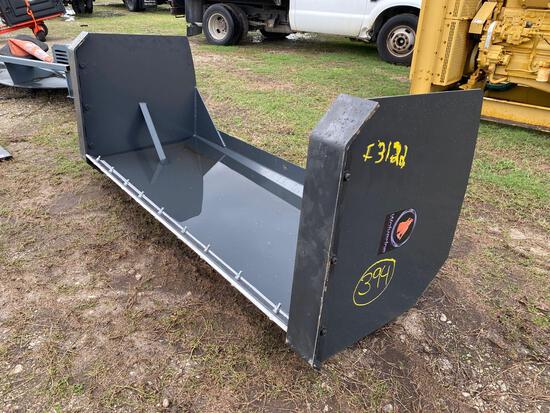 Unused 84in Skid Steer Box Blade/Snow Push Box