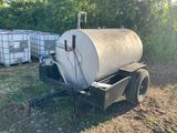 Homemade Trailer with Water Tank Attached