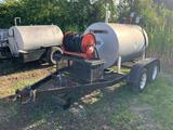 Homemade Trailer with Diesel Fuel Tank Attached