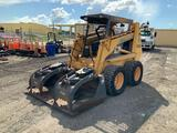 Case 1845C Skid Steer Loader with FFC Grapple