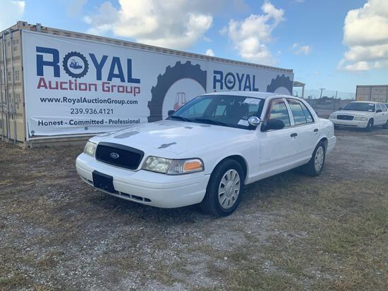 2007 Ford Crown Vic 4 Door Police Sedan