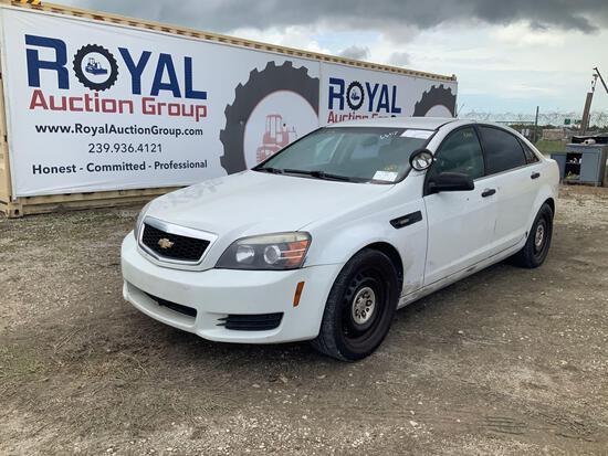 2012 Chevrolet Caprice 4 Door Police Sedan