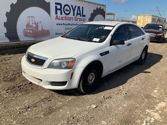 2013 Chevrolet Caprice 4 Door Police Cruiser