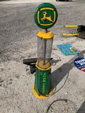 John Deere Gas Pump Lawn Ornament