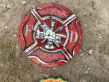 Fire Dept Metal Sign