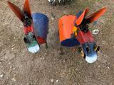 Two Bobbing Head Donkeys