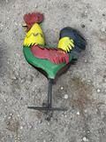 Rooster Yard Art