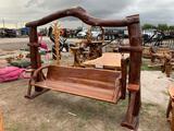 Large Teak Wood Swing