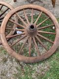 Teak Wood Wagon Wheel