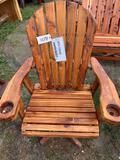 Red Cedar Glider Swivel Rocker - Amish Built