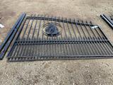 16ft Powder Coated Gates - Horse Design