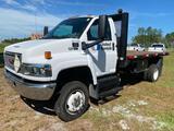 2009 GMC C5500 4x4 14FT Flatbed Truck