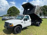 2000 Ford F-450 Flatbed Dump Pickup Truck