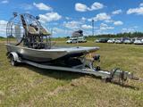 2001 16ft AirGator Aluminum Air Fan Boat