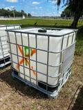 Skid Mounted Poly Tank with Cage