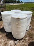 4 55-Gallon Poly Barrels