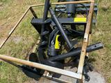 Unused Skid Steer Hydraulic Auger Attachment with Bits