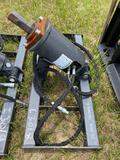 Unused Skid Steer Hydraulic Auger Attachment