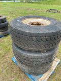 3 Large Tires with 10 Lug Wheels