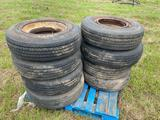 8 Trailer Tires with Wheel Liners