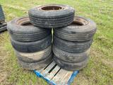 9 Trailer Tires with Wheel Liners