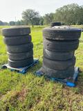 10 Truck Tires with Wheels