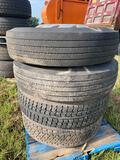 4 Truck Tires with Wheels