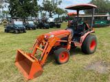 2013 Kubota B3200 HSD 4WD Front End Loader Utility Tractor