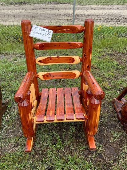 Red Cedar, Amish built, Rocking Chair