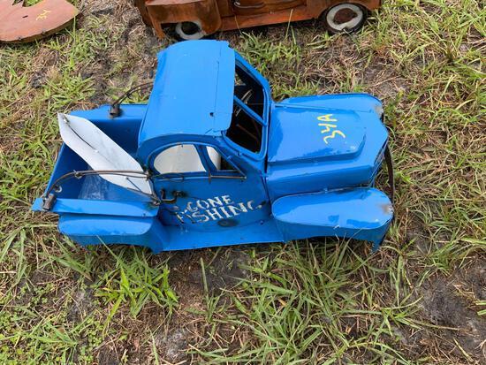 Gone Fishing Metal Toy Truck