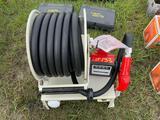 Fuel hose reel dispenser unit