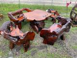 Teak Wood table and Four Chairs