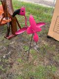 Flamingo Yard Art with Spinning Wings