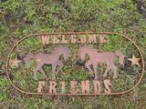 Welcome Friends Ranch Sign