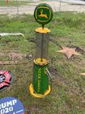 Metal John Deere Gas Pump Lawn Ornament