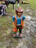 Small Cowboy Wood Lawn Ornament