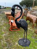 Large Metal Flamingo Lawn Ornament