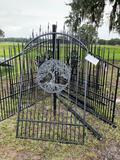 Wrought Iron Single Gate w/ Tree Symbol