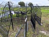 One Set of Wrought Iron Gates w/Animal Symbol