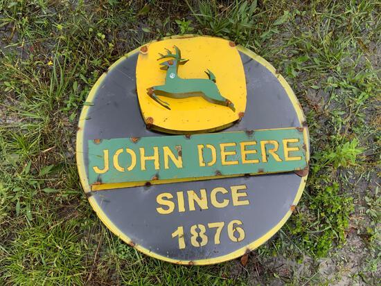 Round John Deere Sign